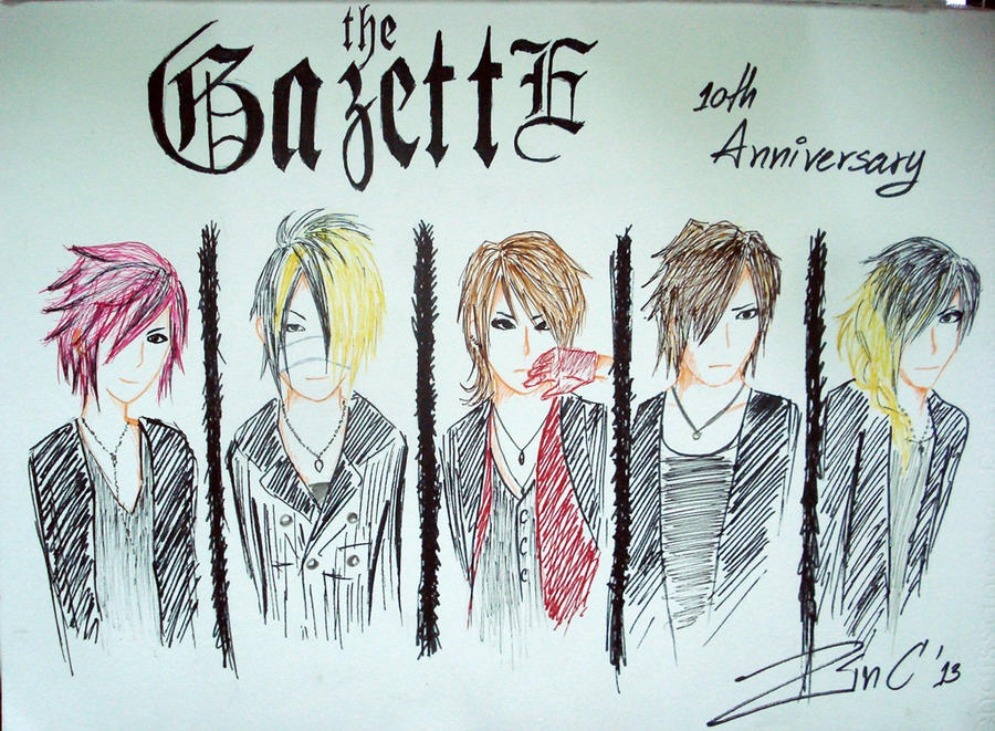 the GazettE 10th anniversary by AsperPieR