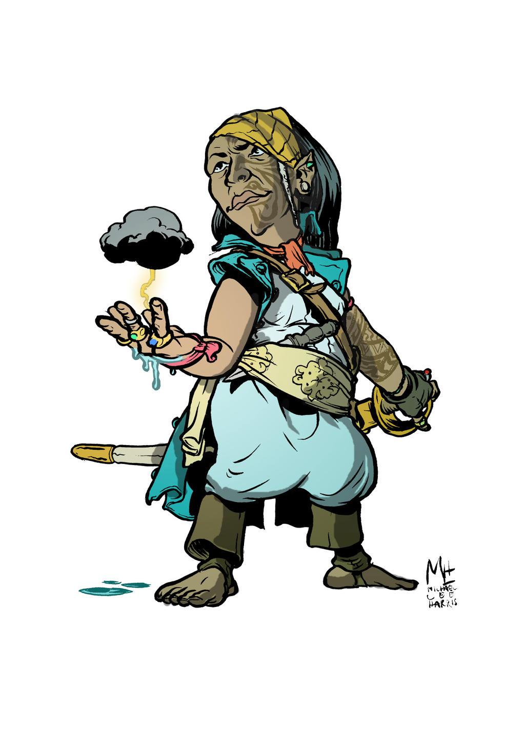 Halfling Sorcerer by michaelharris