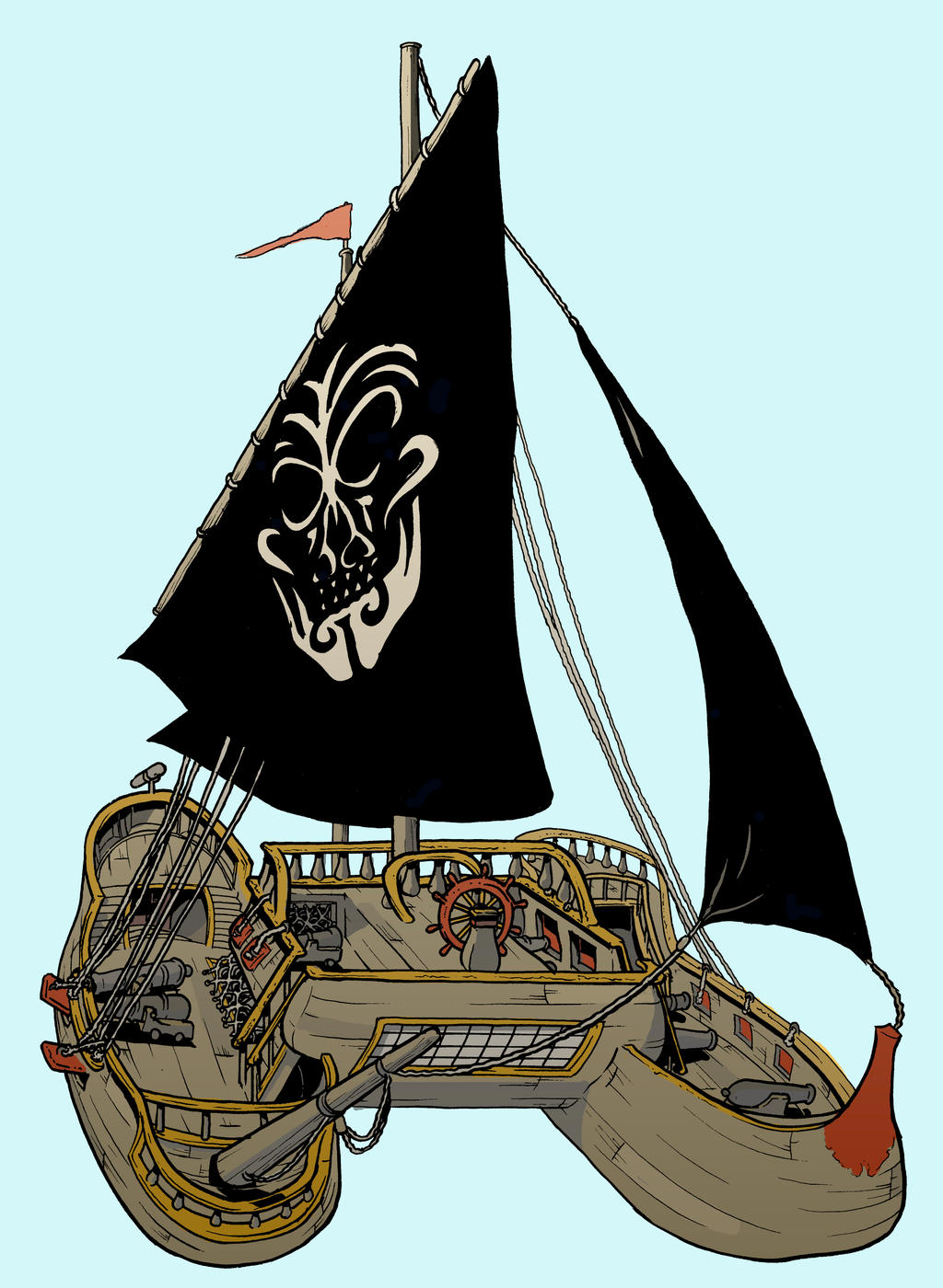 Gnomes need a pirate ship by michaelharris