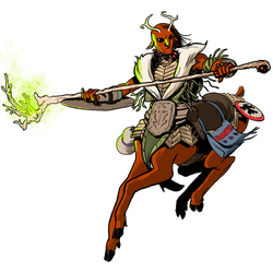 Centaur Druid by michaelharris