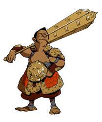 Halfling Barbarian by michaelharris