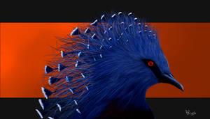 Crowned Victoria Pigeon by Fidae