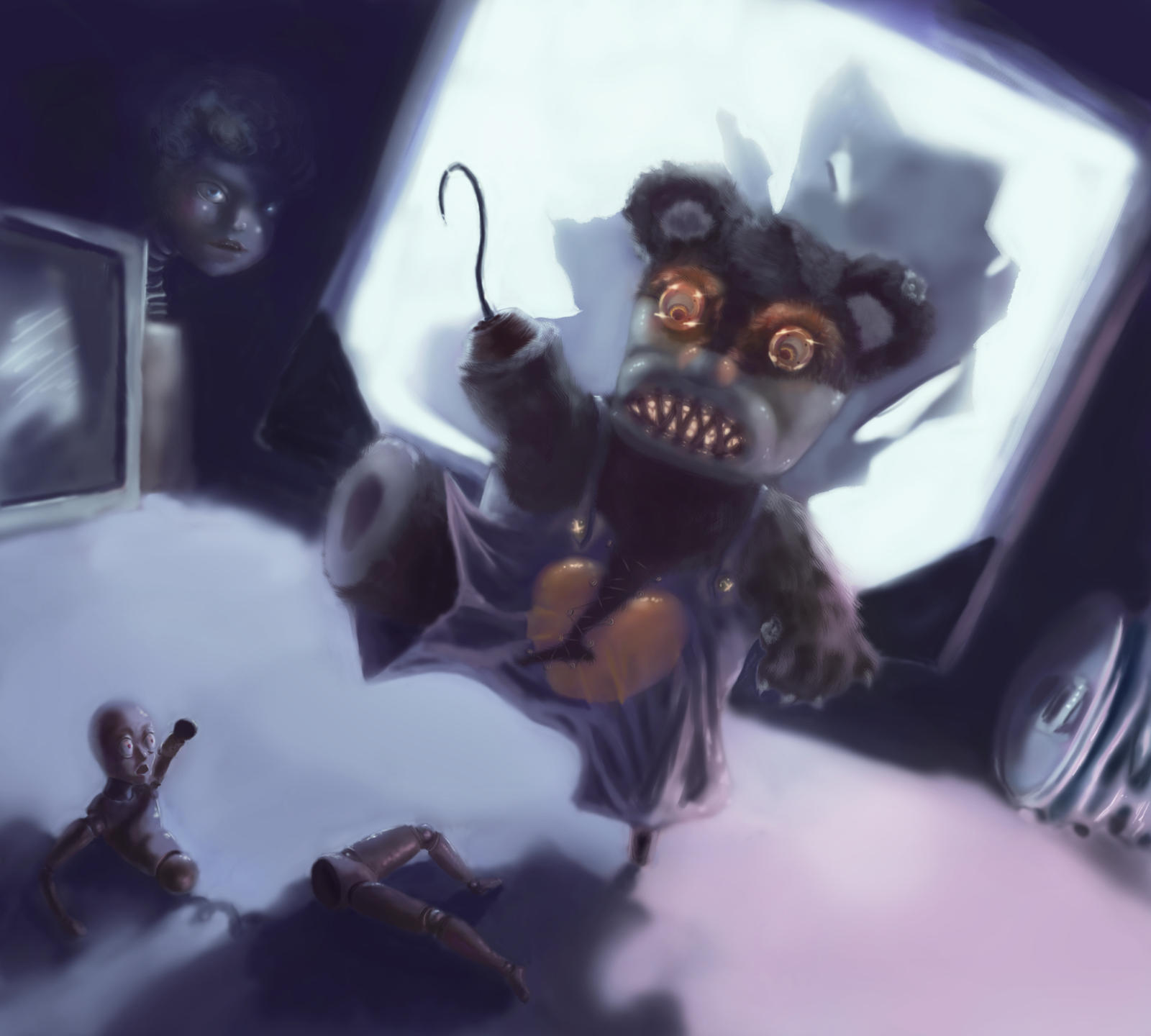 The gallery for --> Evil Bear Drawing