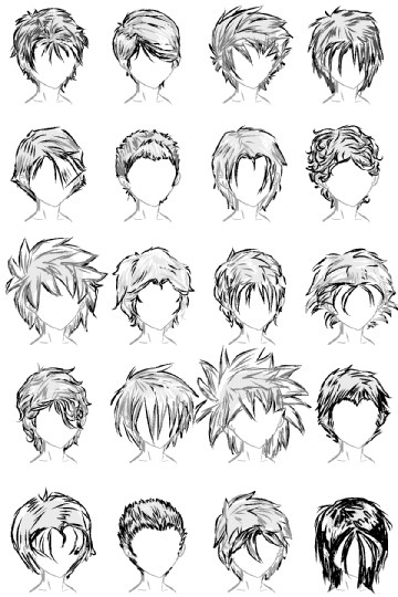 male anime hair styles 20 hairstyles by lazycatsleepsdaily on deviantart 3083 | 20 male hairstyles by lazycatsleepsdaily d4h6lsu