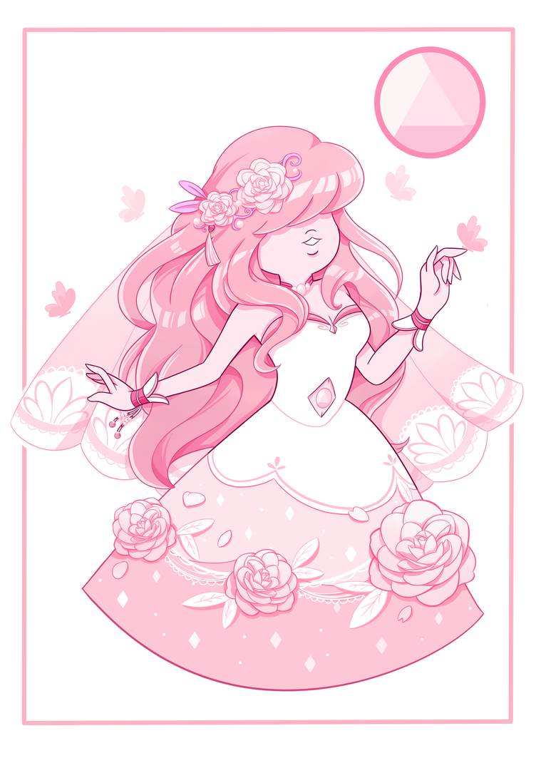 A whimsical light-pink Sapphire working in service for Pink Orchid. What a good way to start the Sapphire's birth month with a Sapphire... Her ref is set here in a souvenir postcard style. --------...