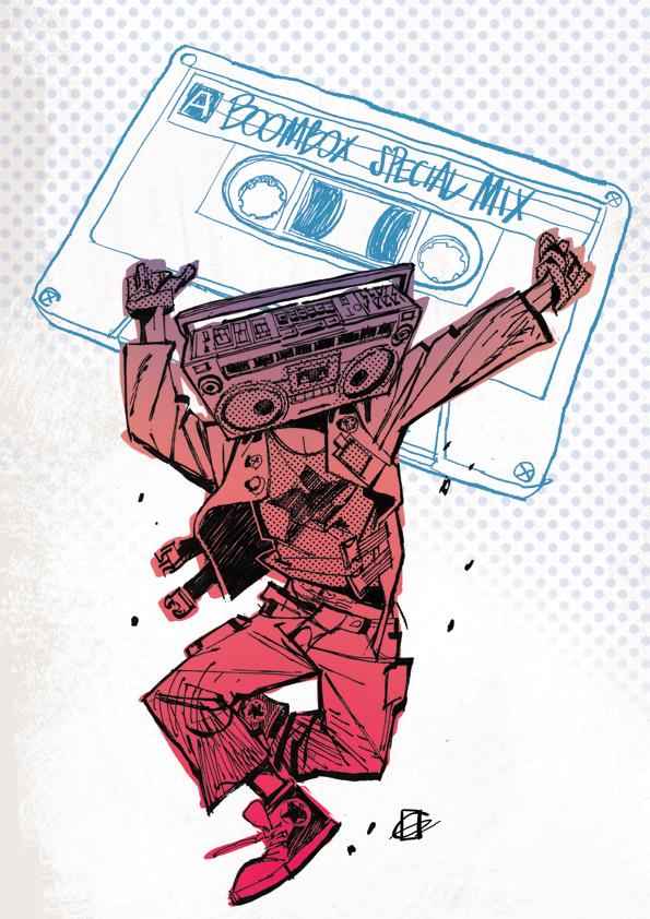 Boombox illustrazione Gianphe by DavideGianfelice