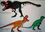 Tyrannosaurus rex: 1902-2019 (updated) by SonicZilla150