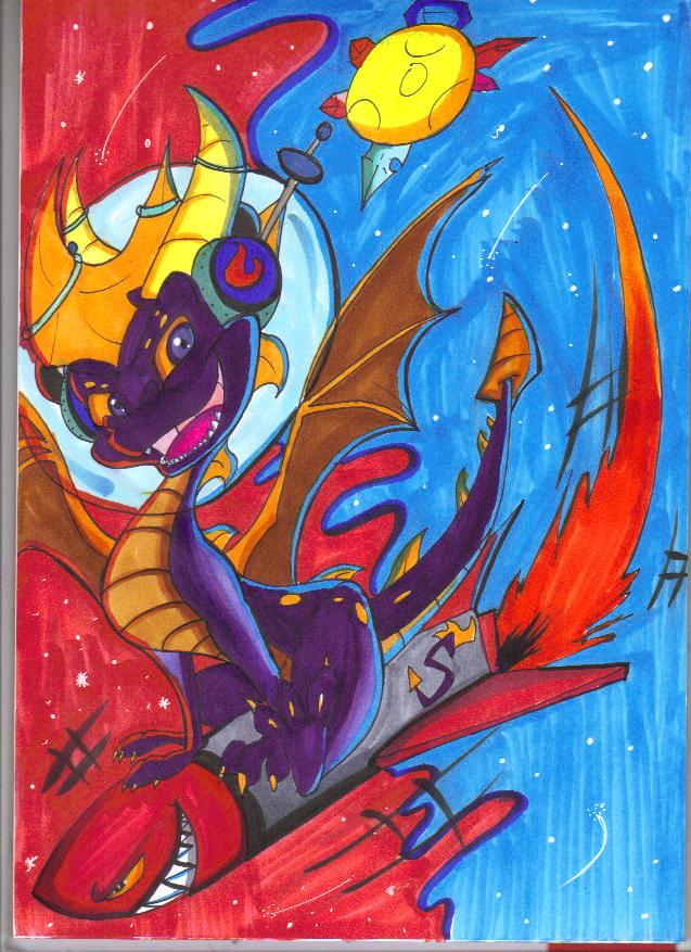 .:Space Dragon:. by Silver-HeartCrosser