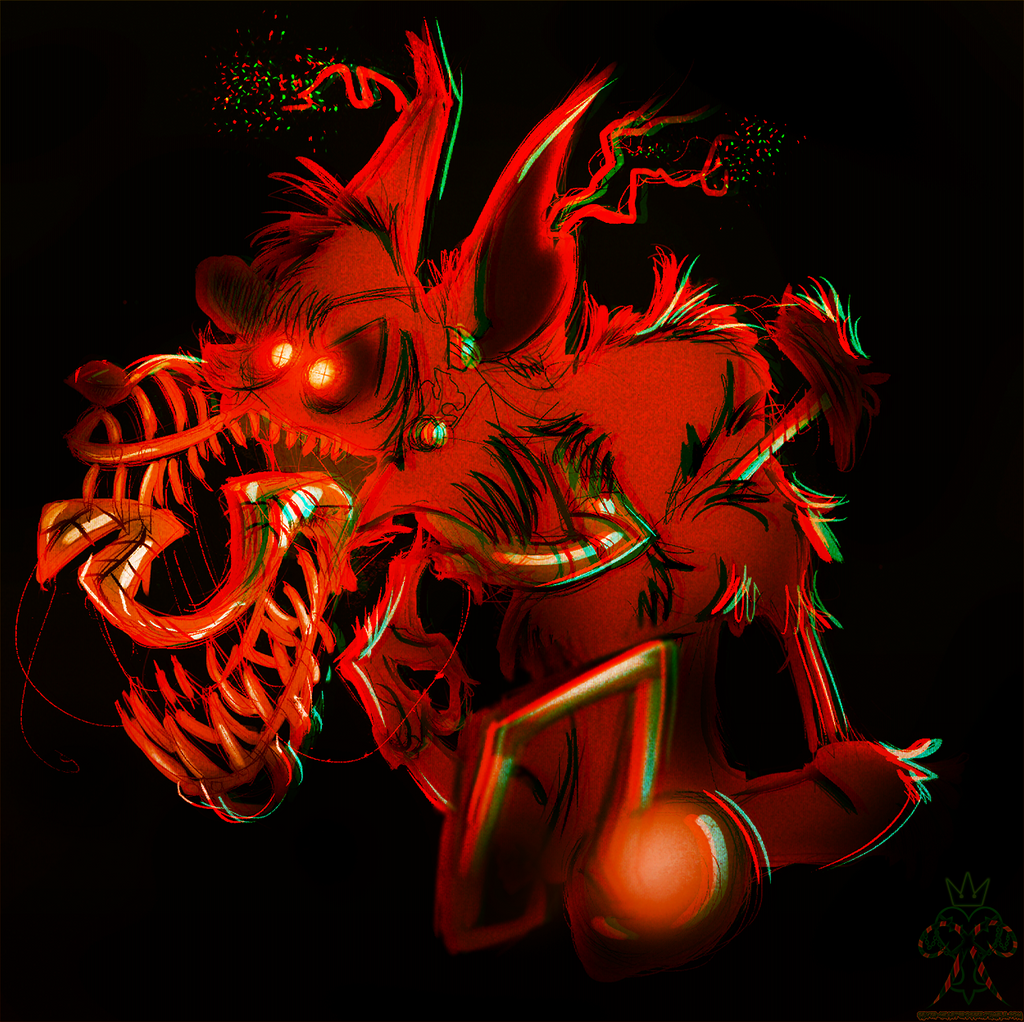 This is an image of Gargantuan Nightmare Foxy Drawing