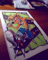 .:Crash Bandicoot:. -Daily Doodle- by Slurku