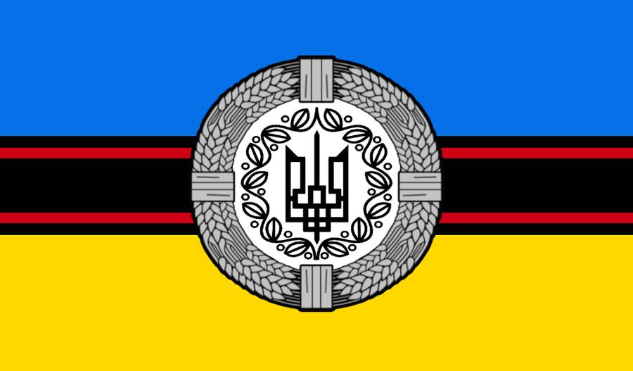 Natsoc Ukrainian Flag By Columbiansfr On Deviantart