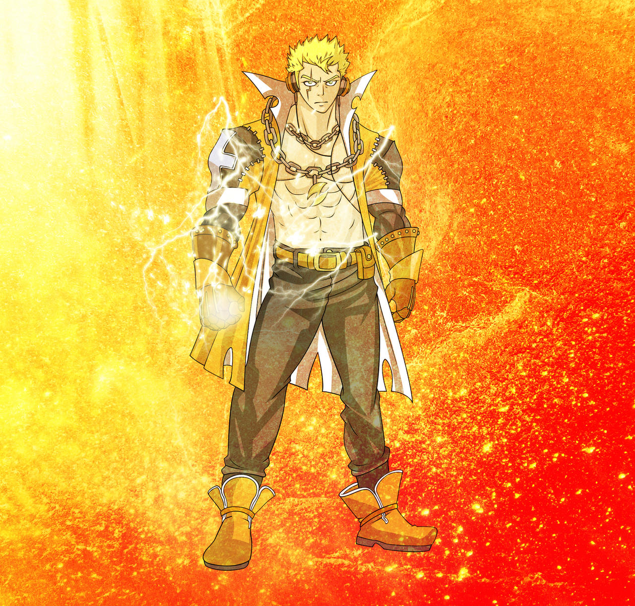 Laxus The Lightning Dragon Slayer By Fullmetaljuzz On