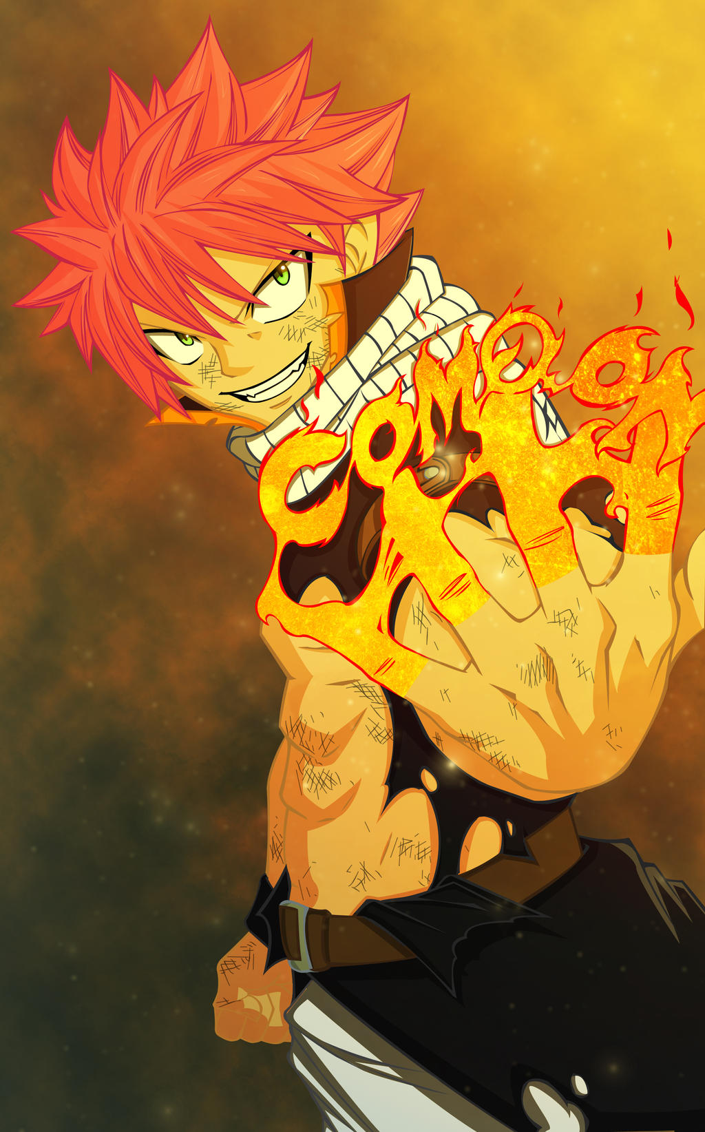 Natsu Dragneel: Come On by fullmetaljuzz