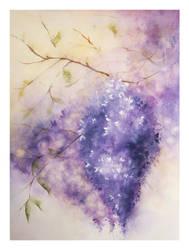 Purple Flowers by teatimetomorrow