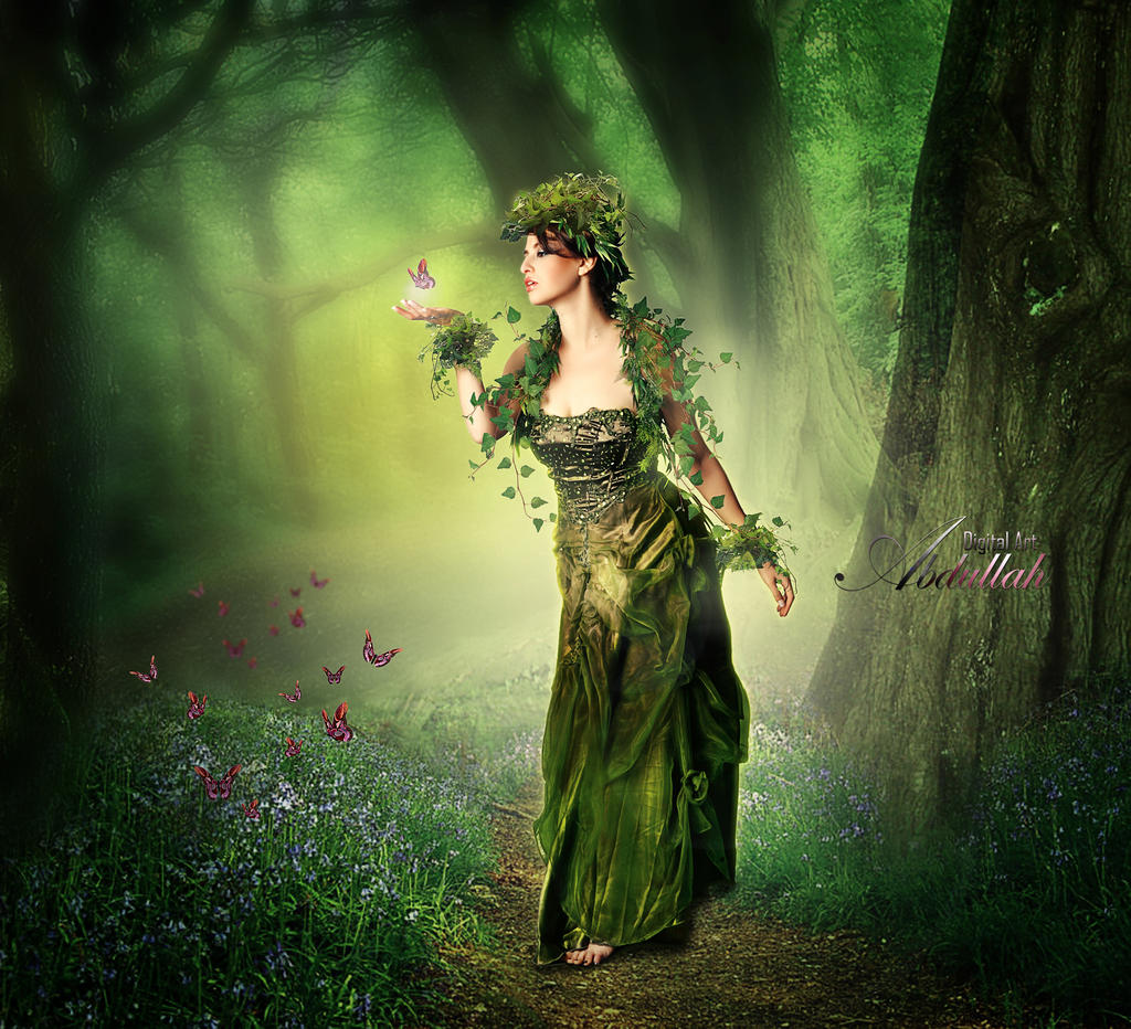 Queen Of Forest by ROSEWALLPAPERS