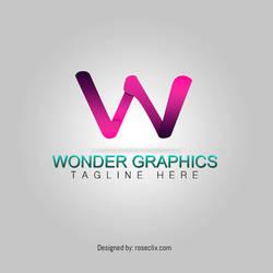 Abstract Letter Wonder Logo Design Stock  Free