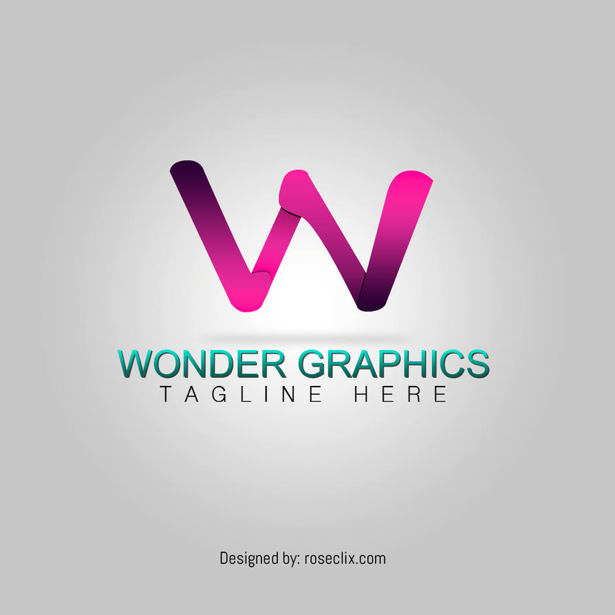 Abstract Letter Wonder Logo Design Stock  Free by ROSEWALLPAPERS