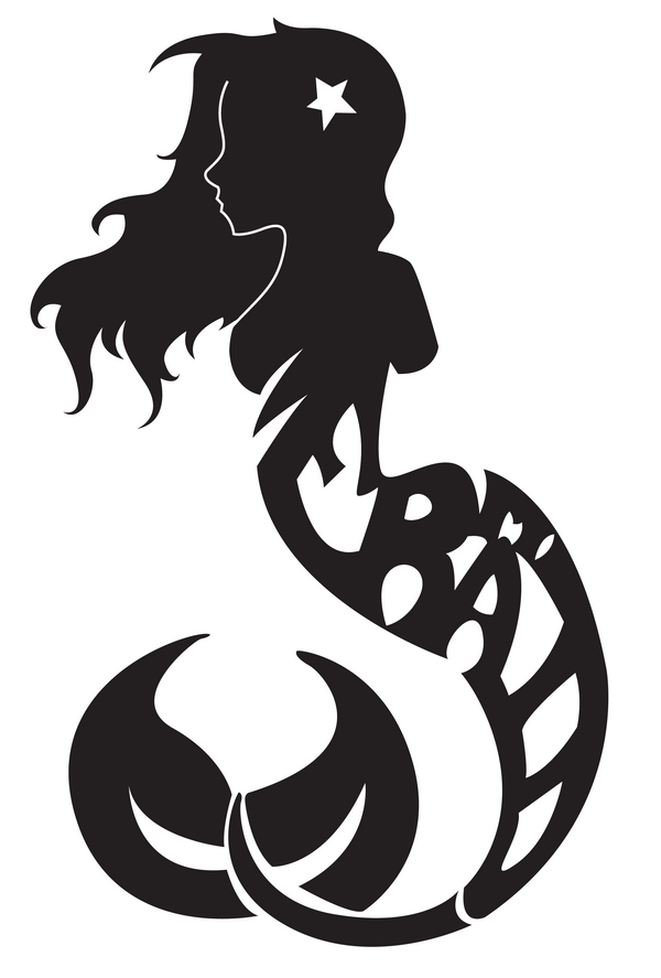 The gallery for gt little mermaid pumpkin stencils
