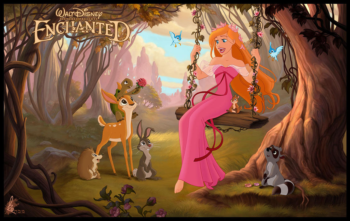 Enchanted - Giselle + Friends by davidkawena