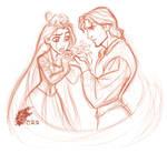 TANGLED - Rapunzel + Flynn 01