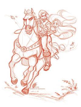 Tangled - Rapunzel + Flynn 02