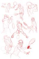 Fast Sketches - Rafael Nadal by davidkawena
