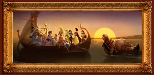 Disney's Princess Academy - Concept Art 01 by davidkawena