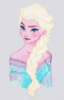 Disney's FROZEN - Queen Elsa Fast Colour Sketch