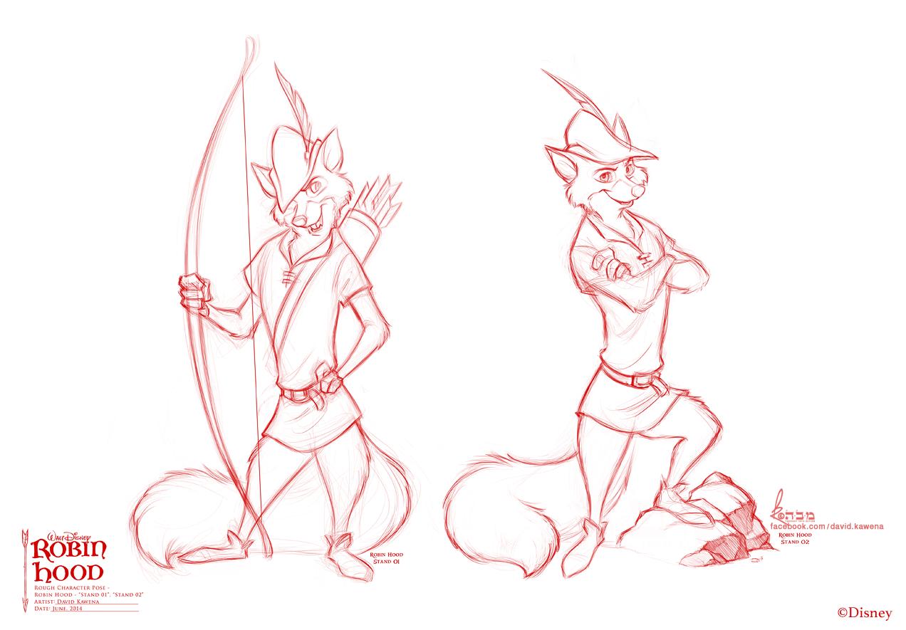 Robin Hood poses for Disney by David Kawena
