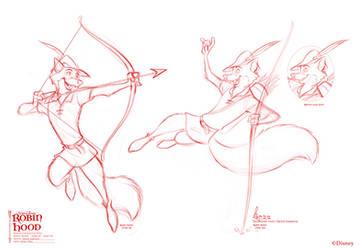Robin Hood poses 02 for Disney by David Kawena by davidkawena