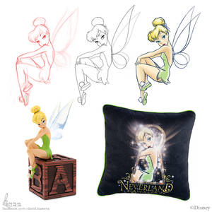 Tinker Bell For Disney 01 by David Kawena