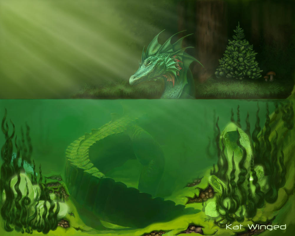 River Dragon by Kat-Winged