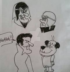 Dastardly drawings