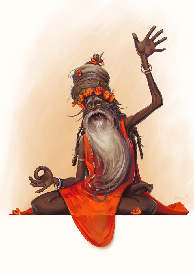 hindu guru by maykrender