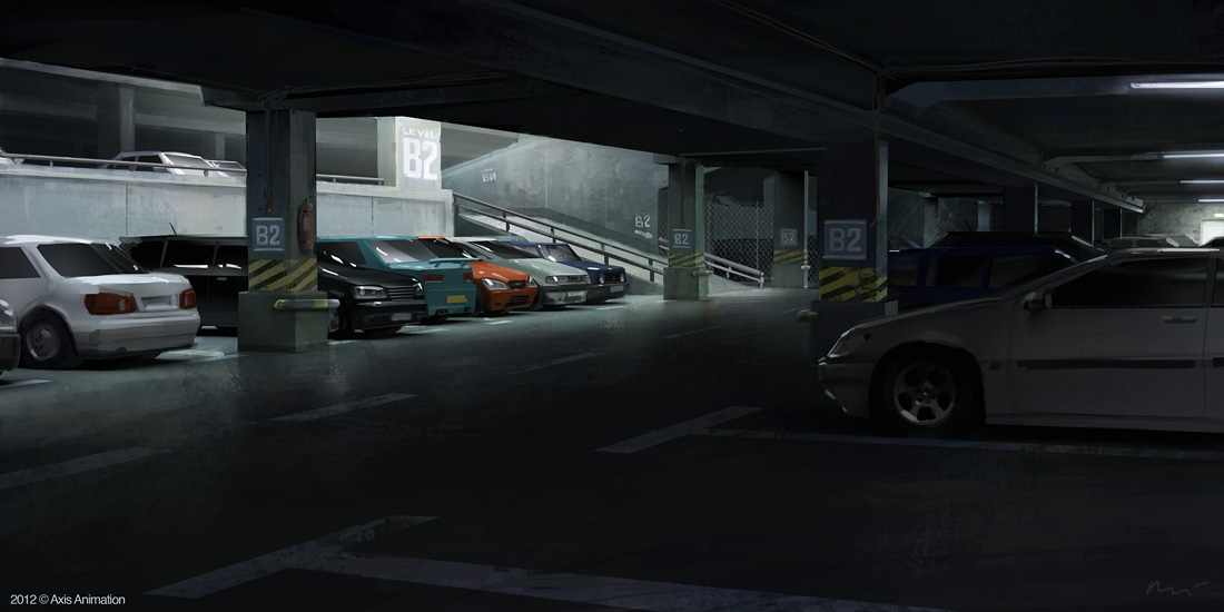 carpark by maykrender