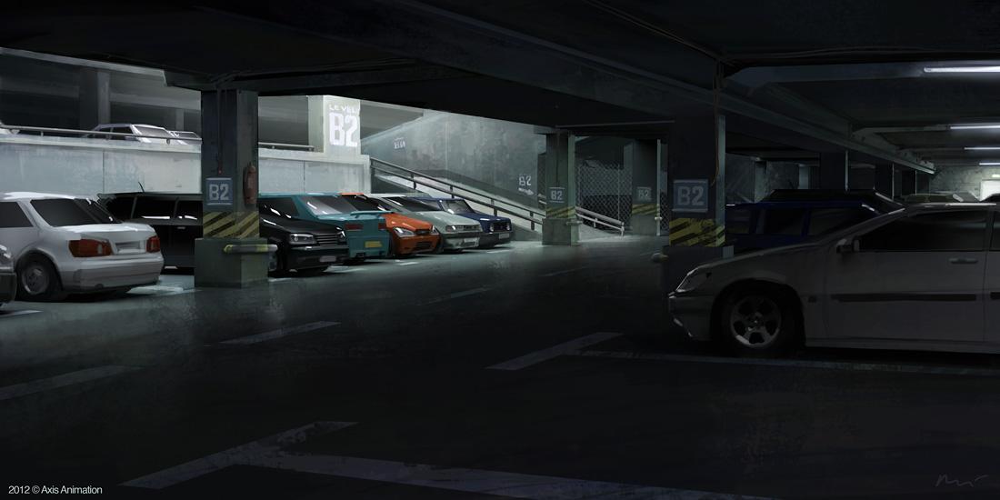 carpark by maykrender