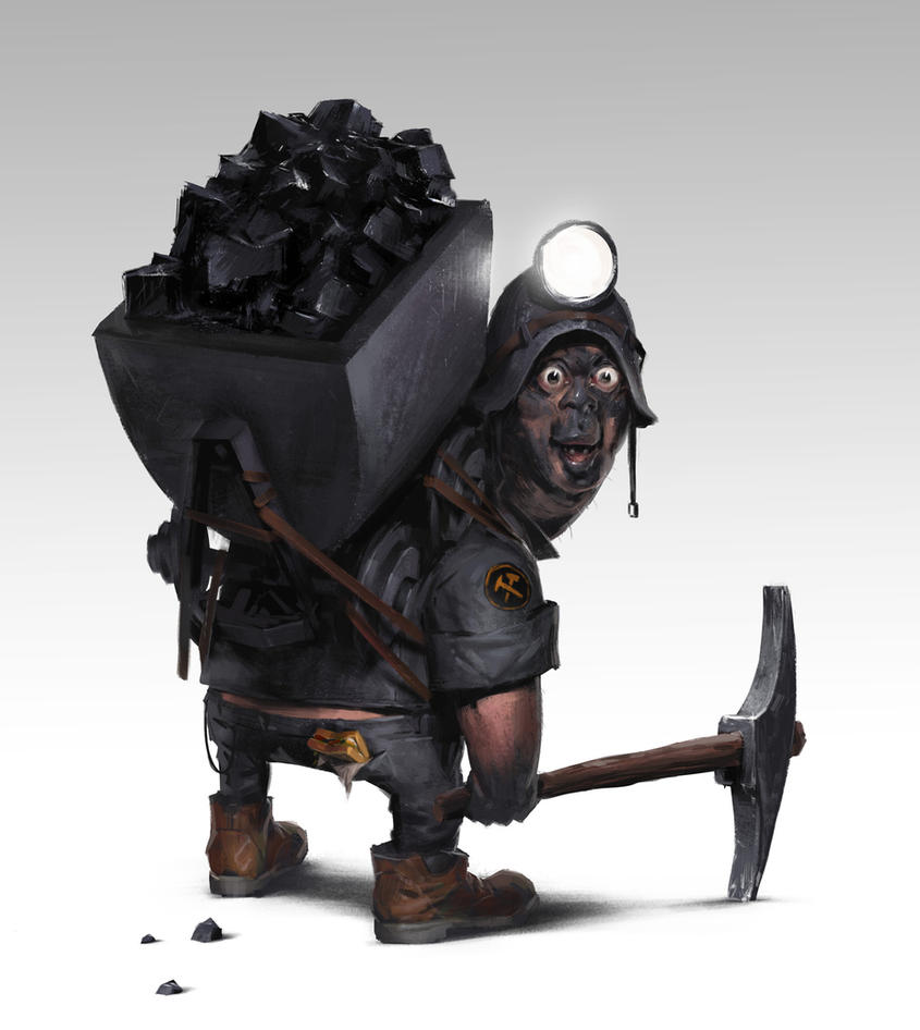 coal miner by maykrender
