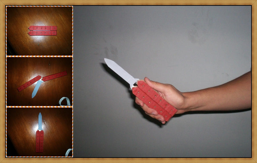 how to make a butterfly knife comb paper