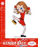 Toy Girls - Arts and Crafts Series 74: Veruca Salt by mickeyelric11
