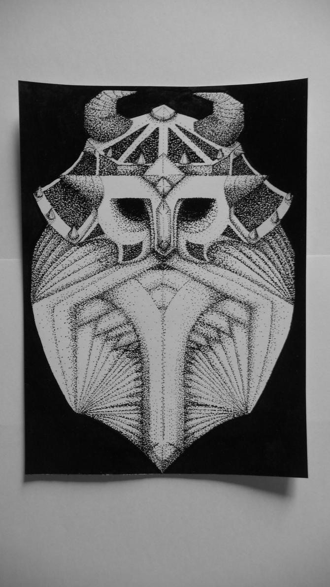 Viking's tattoo pointillisme