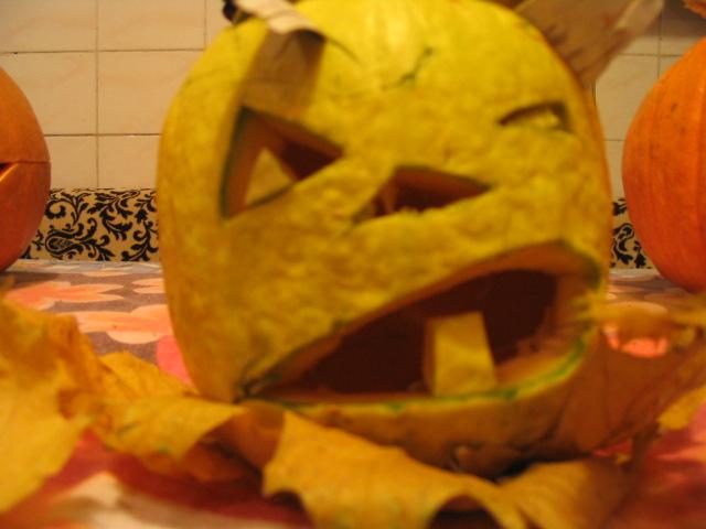 Little crazy pumpkin by lizathehedgehog