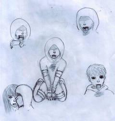 A few Hunter sketches by LizaTheHedgehog