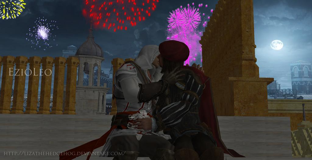 EzioLeo-Romantic evening by lizathehedgehog