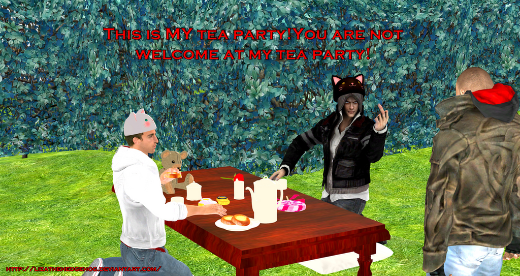Alex has a tea party by lizathehedgehog