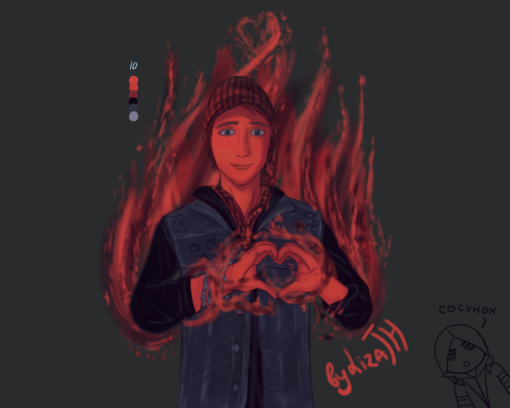 Delsin pallete by lizathehedgehog