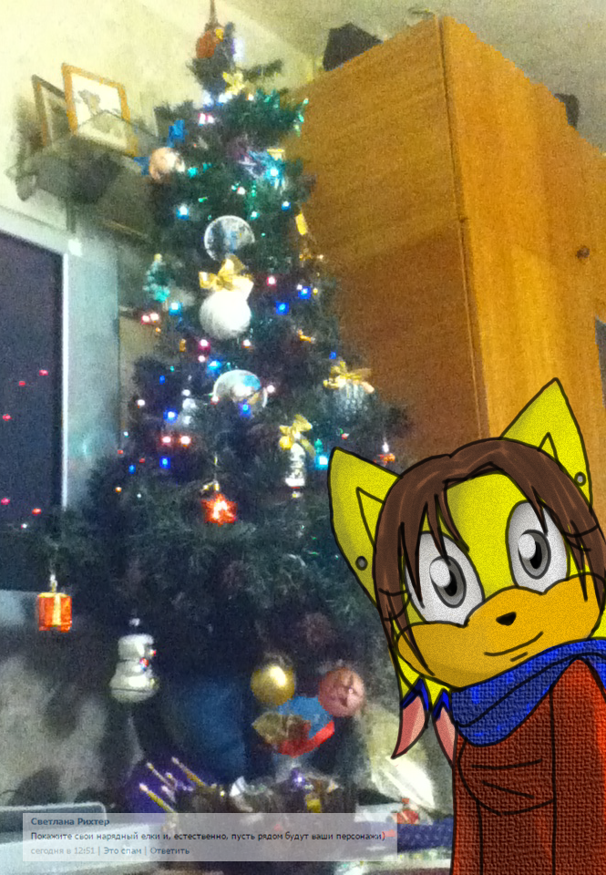 Liza meets New Year by lizathehedgehog