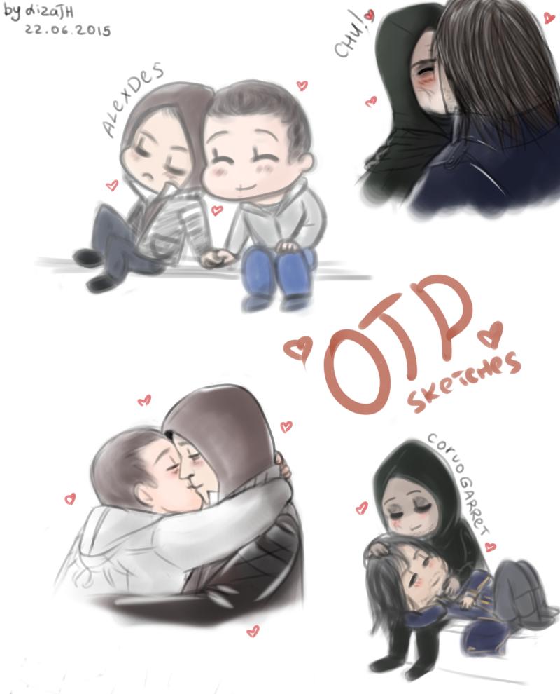 OTP sketches by lizathehedgehog