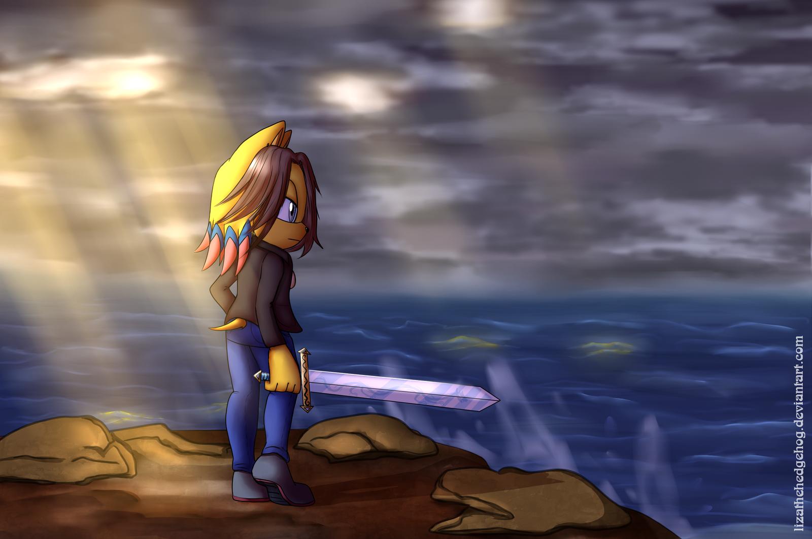Near the sea by lizathehedgehog
