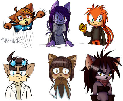 Some sketches for friends by lizathehedgehog