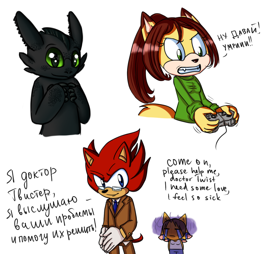Some more sketches of friends by lizathehedgehog